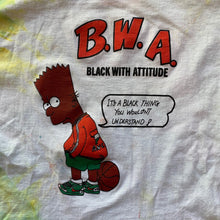 Load image into Gallery viewer, Bootleg Bart B.W.A Custom Tie-Dye T-Shirt