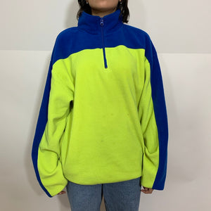 Nautica Competition Split Color 1/2 Zip Fleece Pullover