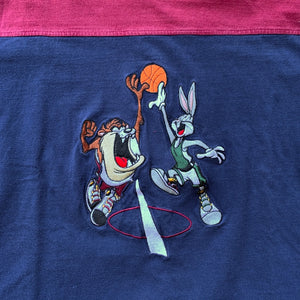 Bugs & Taz Embroidered Dunk Split Color T-Shirt