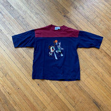 Load image into Gallery viewer, Bugs & Taz Embroidered Dunk Split Color T-Shirt