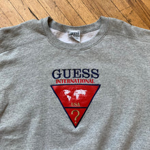 Load image into Gallery viewer, Bootleg Guess International Triangle Logo Crewneck