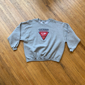 Bootleg Guess International Triangle Logo Crewneck