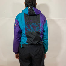 Load image into Gallery viewer, Starter NBA Charlotte Hornets Color Block 1/2 Zip Windbreaker