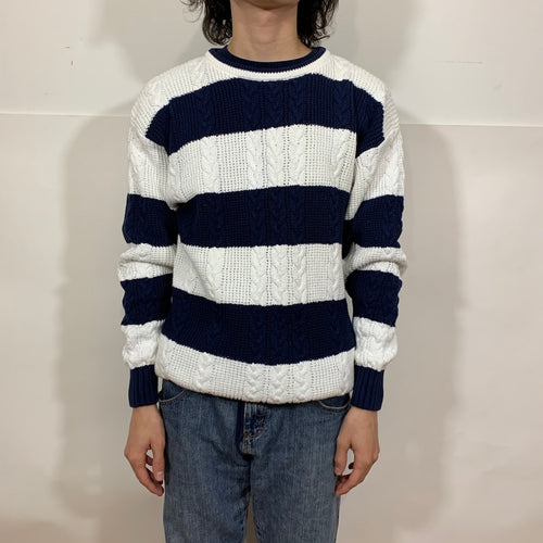 Christian Dior Bold Striped Knit Sweater