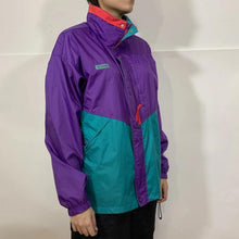 Load image into Gallery viewer, Columbia Neon Split Color Windbreaker