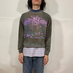 Mountain & Forest Cat Eyes Cropped Crewneck