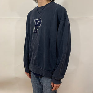 Polo RL Distressed P Patch Crewneck