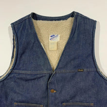 Load image into Gallery viewer, Wrangler Denim Sherpa Vest