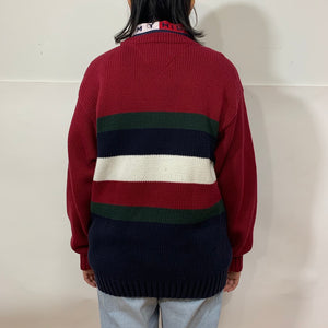Tommy Hilfiger Striped Purl Knit Sweater
