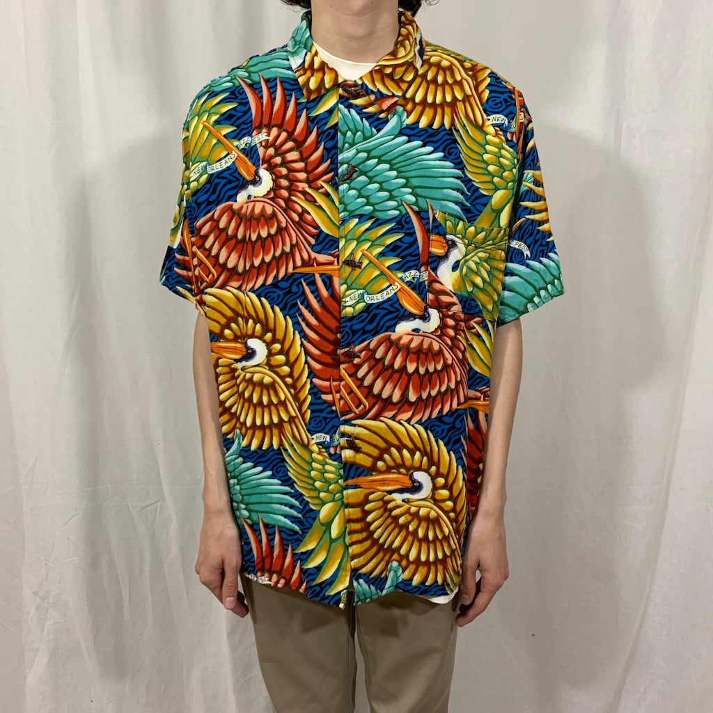 Bayou Wear New Orleans Pelican Print Button Down