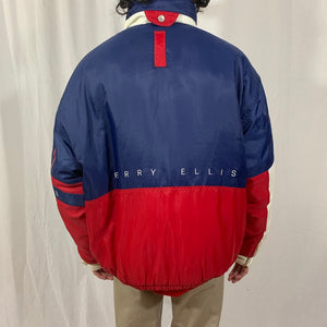 Perry Ellis Color Block Puffer Coat