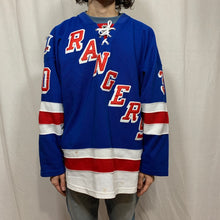 Load image into Gallery viewer, Reebok NY Rangers Distressed Lundqvist Jersey
