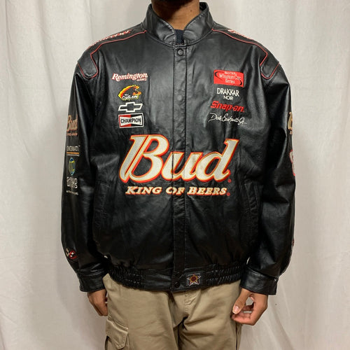 NASCAR Dale Earnhardt Jr. Budweiser Leather Jacket