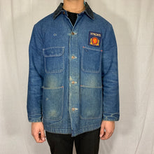 Load image into Gallery viewer, Stroh's Brewery Patch Denim Jacket