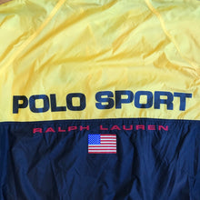 Load image into Gallery viewer, Polo Sport Split Color Spell Out Windbreaker