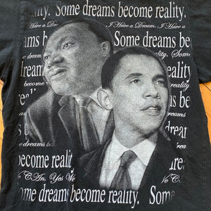 "MLK & Obama ""Dreams Become Reality"" T-Shirt"