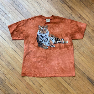 Laying Tiger Double Sided Tie-Dye T-Shirt