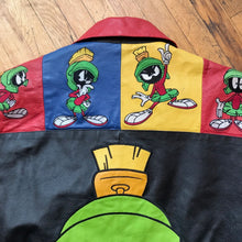 Load image into Gallery viewer, Marvin The Martian Color Block Leather Jacket