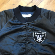 Load image into Gallery viewer, NFL Oakland Raiders Satin Bomber Jacket