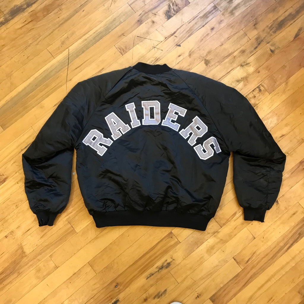 NFL Oakland Raiders Satin Bomber Jacket