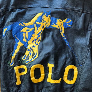 Bootleg Polo RL Embroidered Leather Jacket