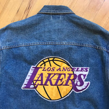 Load image into Gallery viewer, In The Paint Lakers Patch Denim Jacket