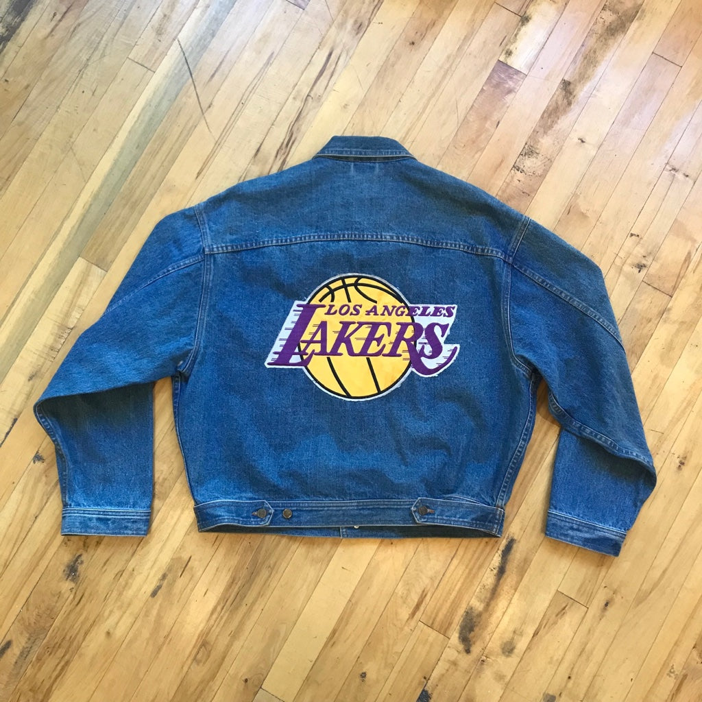 In The Paint Lakers Patch Denim Jacket