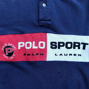 Polo Sport Spell Out Color Blocked Polo