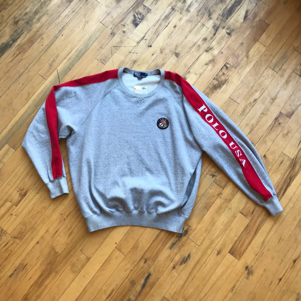 Polo RL U.S.A Cookie Patch Crewneck Sweater
