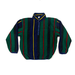 IZOD Striped 1/2 Fleece Pullover