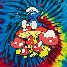 Load image into Gallery viewer, Smurf Mushroom Tie-Dye T-Shirt