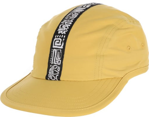 Threes 4 Panel Hat Yellow