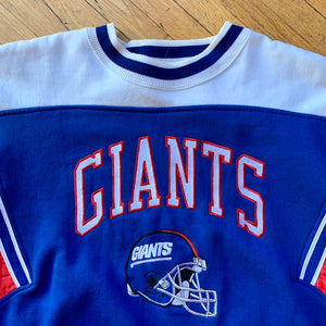 Starter NY Giants Color Block Embroidered Crewneck