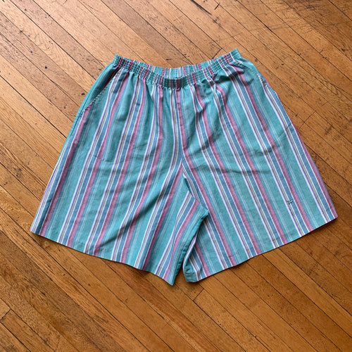 Cristin Stevens Pastel Striped Shorts