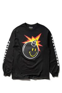 Smiley Adam LS T-Shirt Black