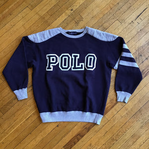 Polo RL Spell Out Patch Crewneck