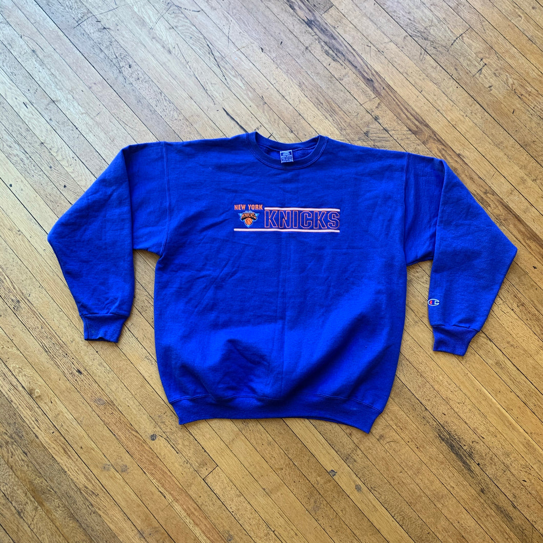 Champion NY Knicks Embroidered Crewneck