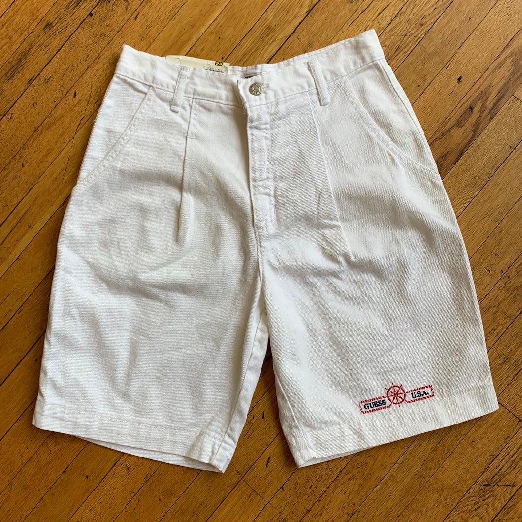 Guess Deadstock Pleated Denim Shorts