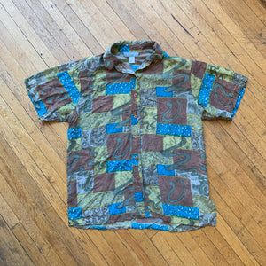 Point & Line Abstract Silk SS Woven
