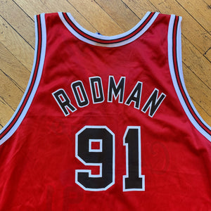 Champion Made In U.S.A Chicago Bulls 50th Anniversary Rodman Jersey