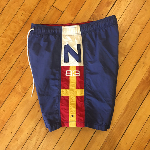 Nautica N-83 Sail Flag Swim Trunks