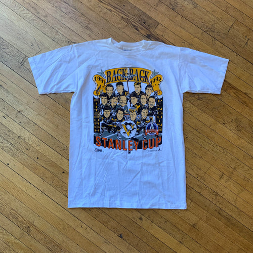 NHL 1992 Pittsburg Penguins Stanley Cup Single Stitch T-Shirt