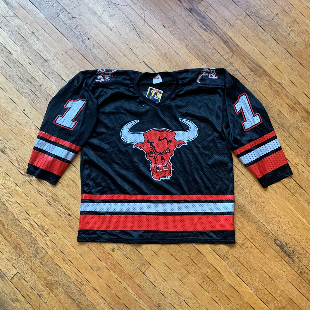WWF The Rock Bull Mesh Hockey Jersey