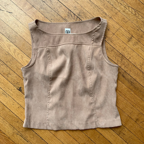 Rampage Wear Faux Suede Structured Tank Top