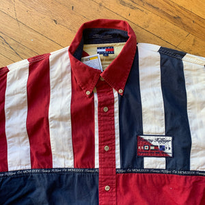 Tommy Hilfiger Color Blocked LS Woven Top