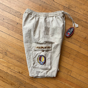Gypsy Rose Grateful Dead Patch Cargo Shorts
