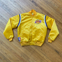 Load image into Gallery viewer, Starter NBA Authentics LA Lakers Satin Bomber Jacket