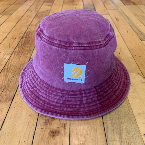 2BV Washed Zig Zag Stitch Bucket Hat