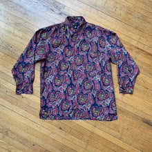 Load image into Gallery viewer, Reputation Silk Paisley LS Woven