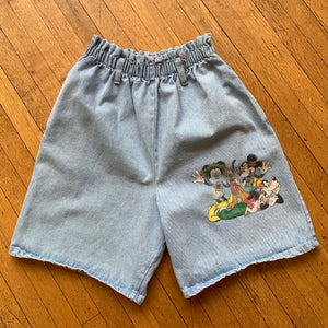 Disney Gang Stretch Waist Denim Shorts